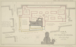 Plan of the New Palace at Westminster and the surrounding locality